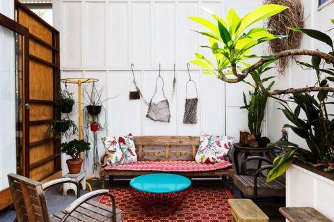 阳台背景墙混搭风格装饰图片