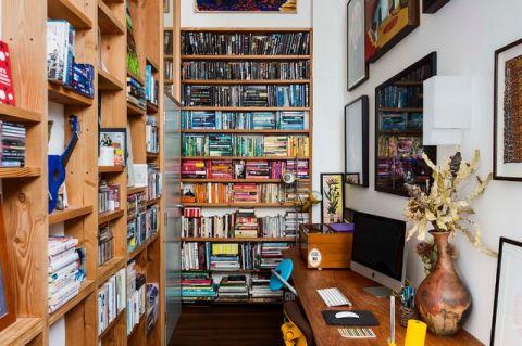 书房照片墙混搭风格装潢图片