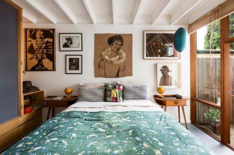 卧室照片墙混搭风格装饰设计图片