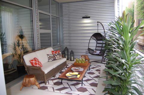 阳台外墙混搭风格装饰效果图