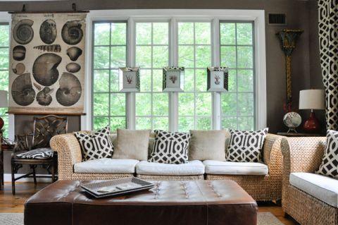 客厅窗台混搭风格装潢设计图片
