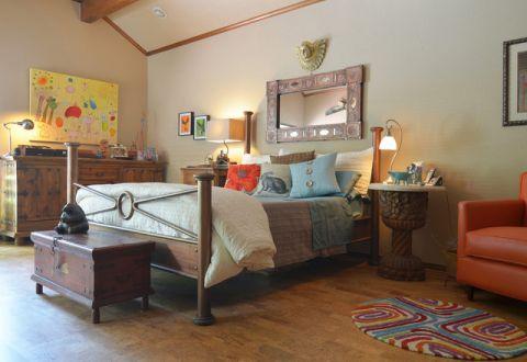 卧室照片墙混搭风格装修图片