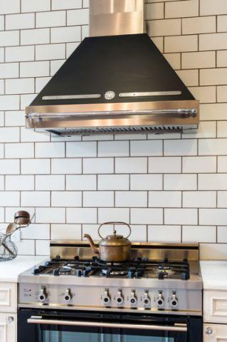 厨房白色背景墙混搭风格效果图
