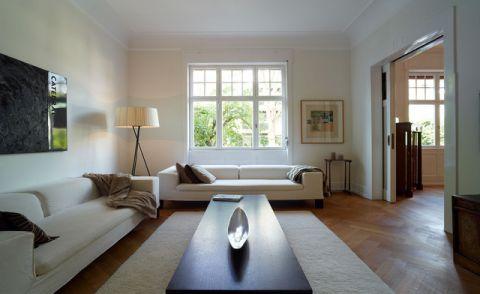 客厅白色吊顶混搭风格效果图