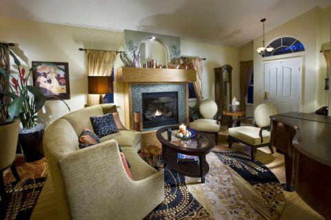 客厅彩色细节混搭风格效果图