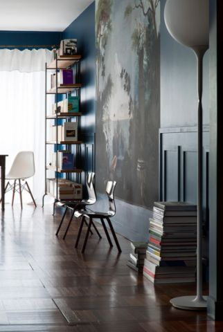 客厅黑色细节混搭风格装饰设计图片