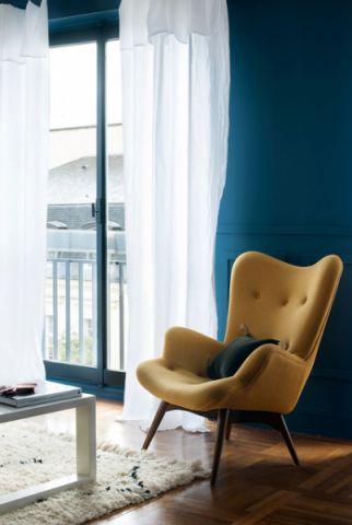 客厅黄色细节混搭风格装潢设计图片