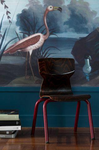 客厅蓝色细节混搭风格效果图