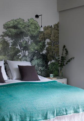 卧室绿色细节混搭风格装饰效果图