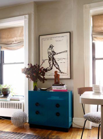 客厅米色照片墙混搭风格效果图