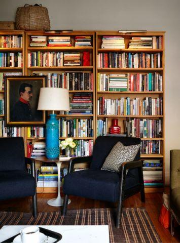 客厅黄色橱柜混搭风格装修效果图