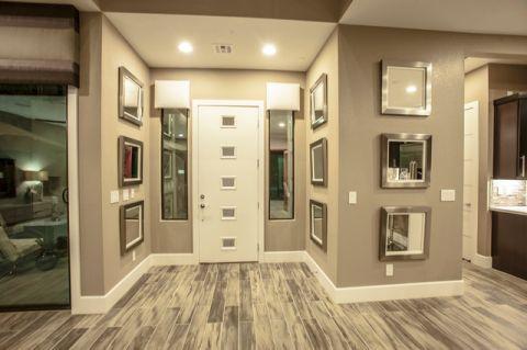 玄关背景墙混搭风格装潢设计图片