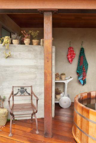 阳台背景墙混搭风格装饰效果图