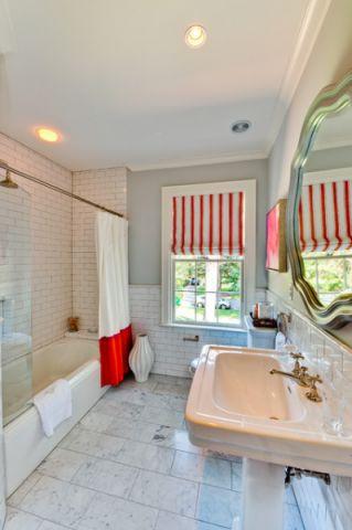 卫生间窗帘混搭风格效果图