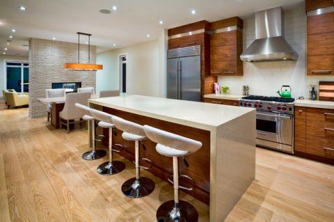 厨房吧台现代风格装潢效果图