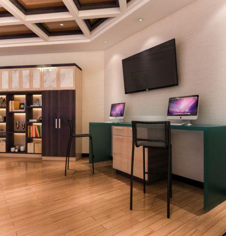 书房细节现代风格装潢设计图片