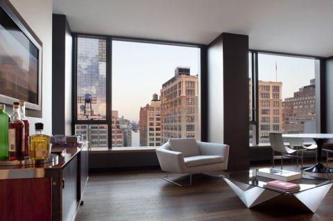 客厅飘窗现代风格装潢图片
