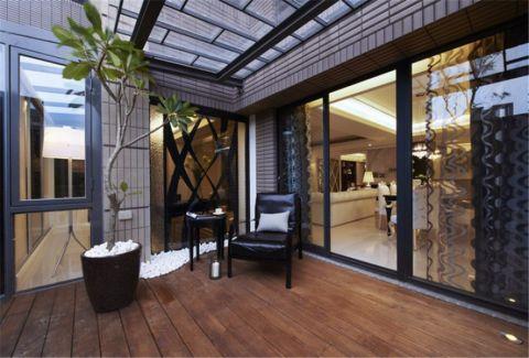 阳台推拉门简欧风格装修设计图片