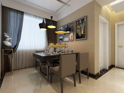 餐厅背景墙后现代风格装潢设计图片
