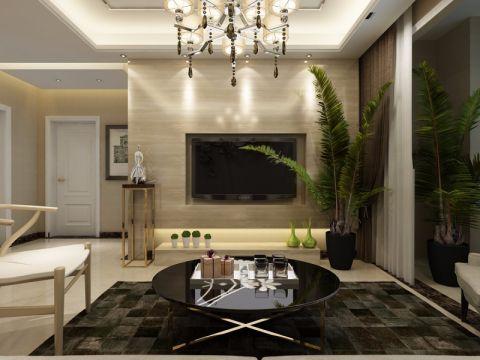 世茂原山首府120现代简约三室两厅装修效果图