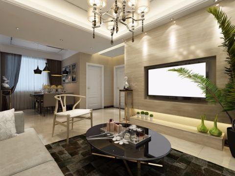 客厅背景墙后现代风格装修效果图