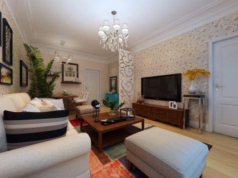 阳光10090现代简约两室一厅装修效果图