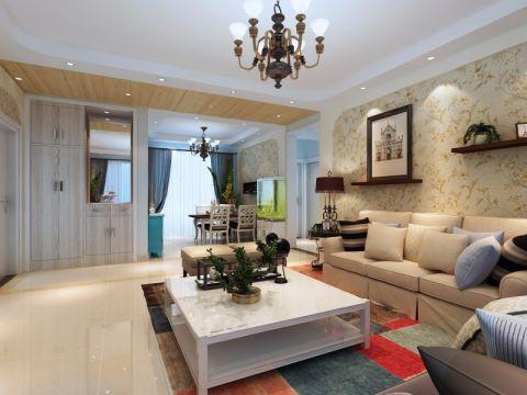 客厅吊顶简约风格效果图