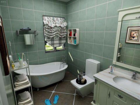 浴室浴缸田园风格装潢设计图片