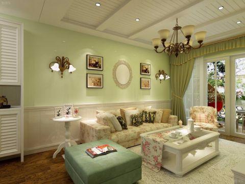 客厅吊顶田园风格装修图片