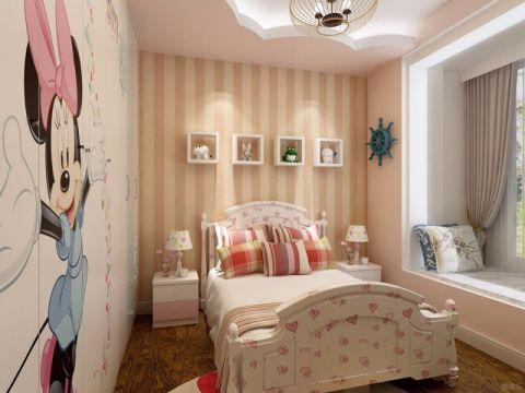 儿童房床头柜田园风格装饰图片