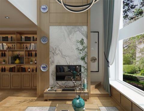 海信龙奥九号80平新中式两室两厅效果图