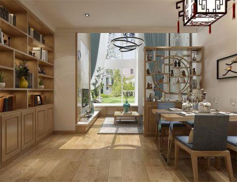 餐厅博古架新中式风格装潢设计图片