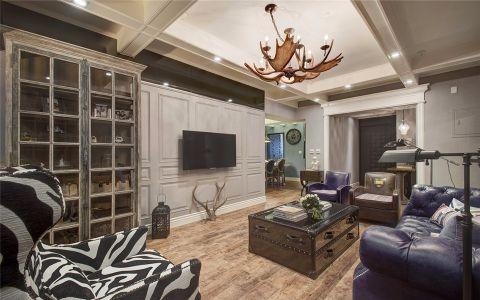 客厅橱柜美式风格装潢设计图片