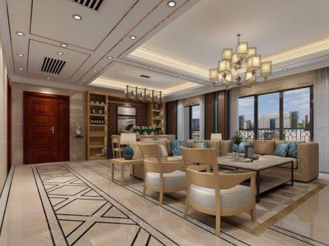 万达广场130平方现代简约风格套房装修效果图