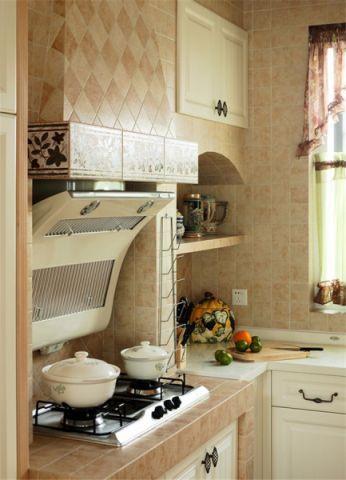厨房背景墙田园风格装饰图片
