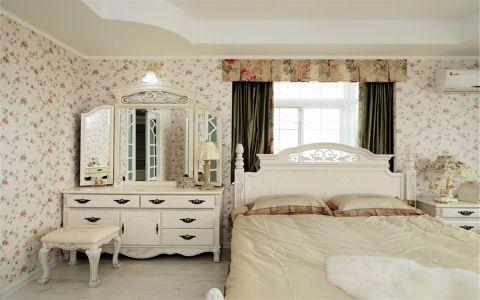 卧室吊顶田园风格装潢图片