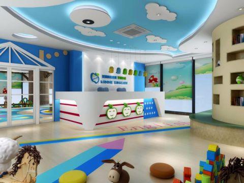 60万绍兴英语早教中心幼儿园装修效果图