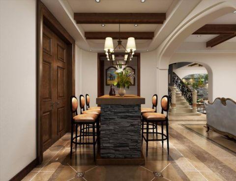 餐厅吧台美式风格装饰设计图片