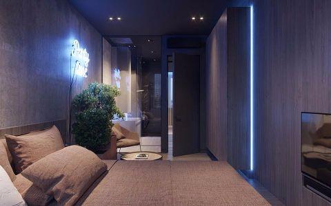 卧室走廊现代简约风格装饰设计图片