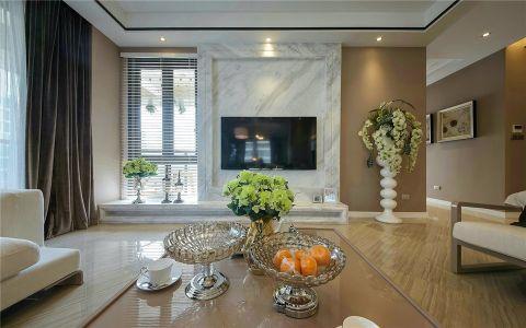 绿都万和城170平现代简约风格三室装修效果图