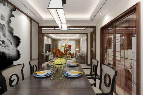 餐厅推拉门新中式风格装修图片
