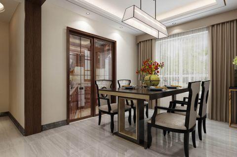餐厅窗帘新中式风格装饰图片