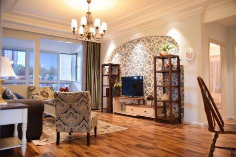 天鹅湖畔110平美式乡村三居室装修效果图