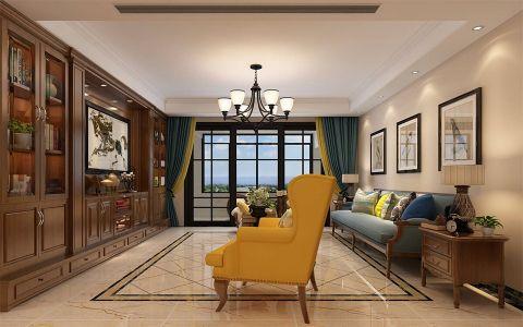 客厅博古架混搭风格装饰效果图