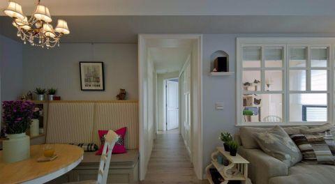 广电兰亭时代110平米美式田园风格三居室装修效果图