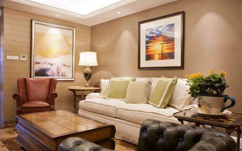 玉兰广场126平混搭风格三居室装修效果图