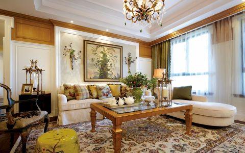 莱蒙城120平美式风格三居室装修效果图
