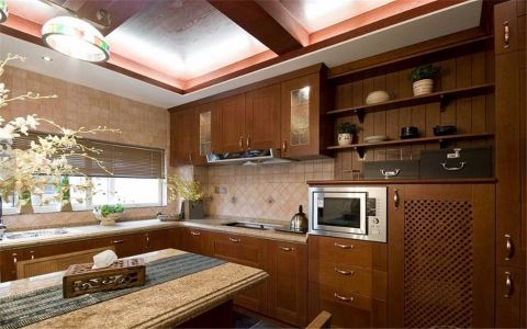 厨房橱柜中式风格装潢效果图