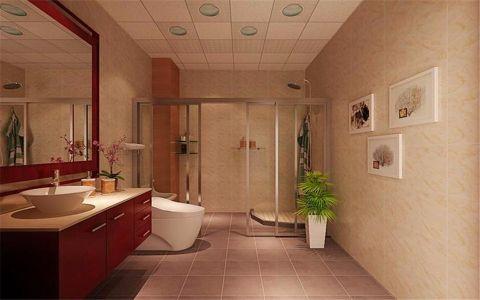 卫生间隔断中式风格装修图片
