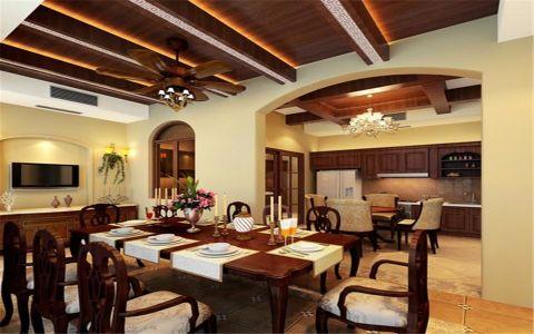 餐厅吊顶中式风格装饰图片
